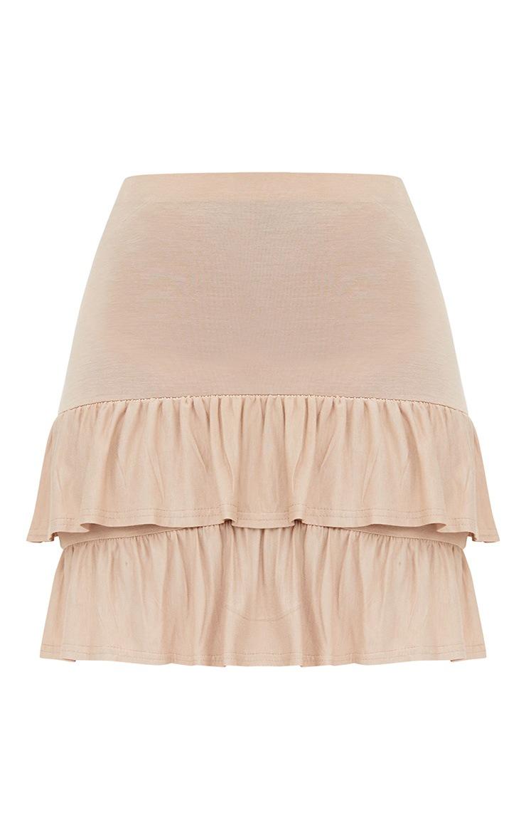 Stone Tiered Frill Jersey Mini Skirt 3