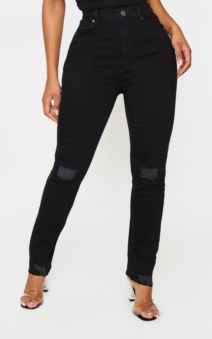 Shape Black Knee Rip Boyfriend Jeans 2