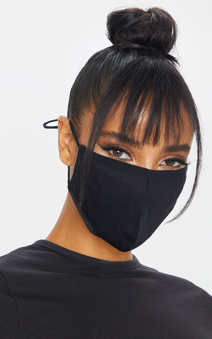 Black Antibacterial Reusable Face Mask 1