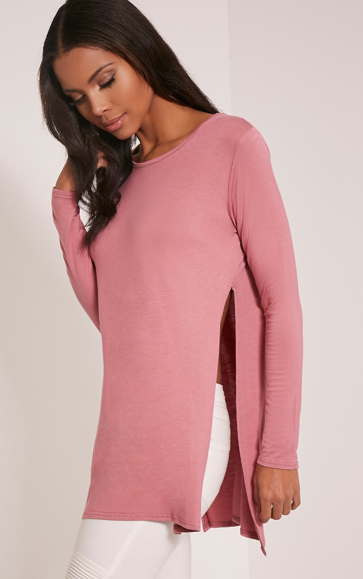 Tamsyn Rose Long Sleeve Side Split Top 4