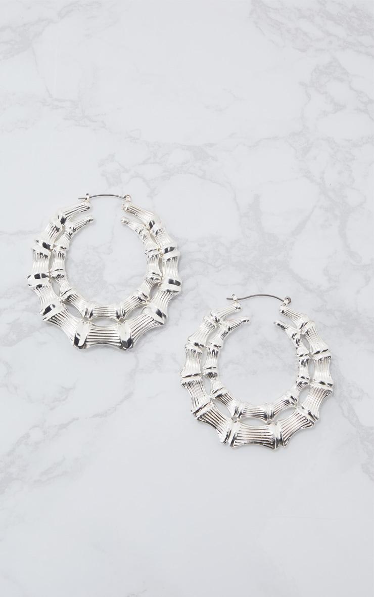 Silver Double Creole Hoop Earrings 3