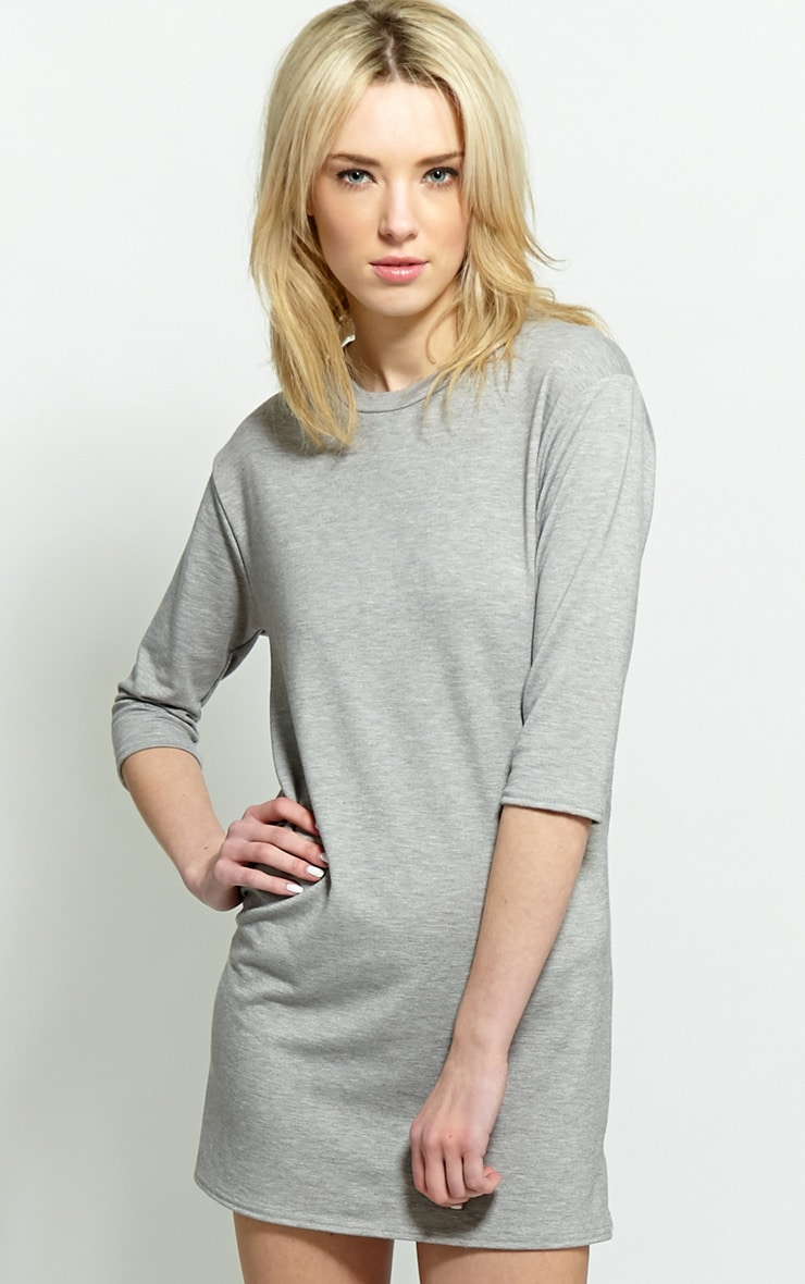 Zoe Grey Jersey Oversized Sweater Dress 1