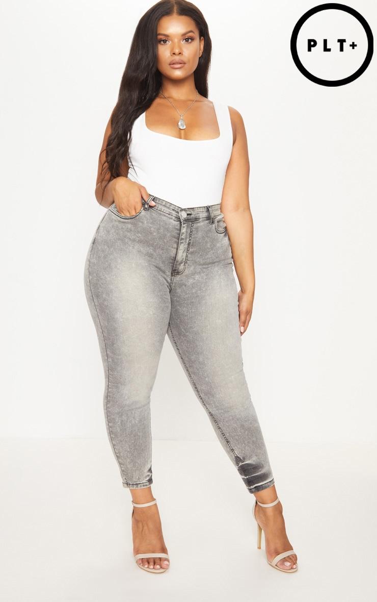 Plus Grey Skinny Jeans 1