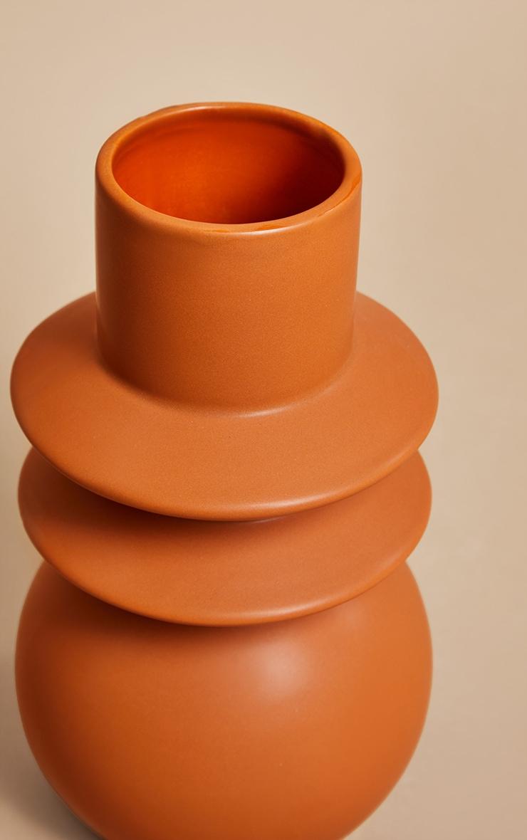 Terracotta Angled Totem Vase 4
