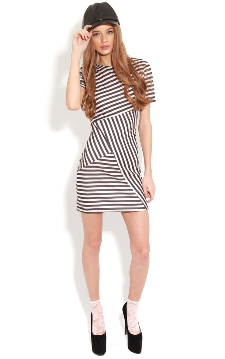 Electra Pink Stripe Bodycon Dress 3