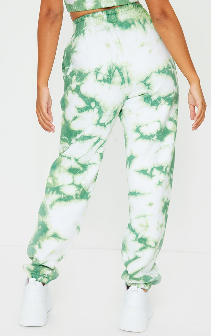 PRETTYLITTLETHING Petite Mint Tie Dye Embroidered Oversized Joggers 3