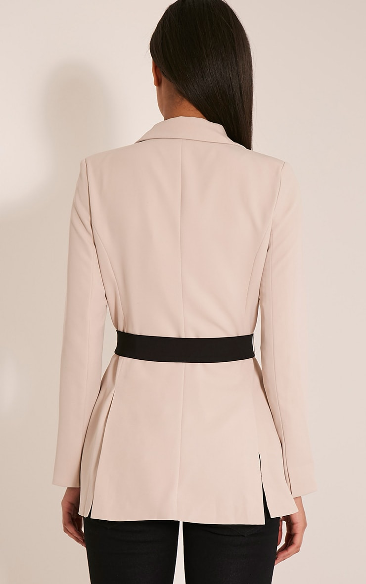 Rebecca Stone Contrast Belted Blazer 2