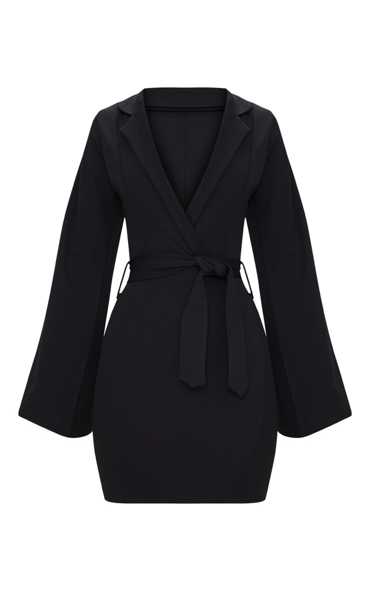 Black Split Sleeve Blazer Dress  3