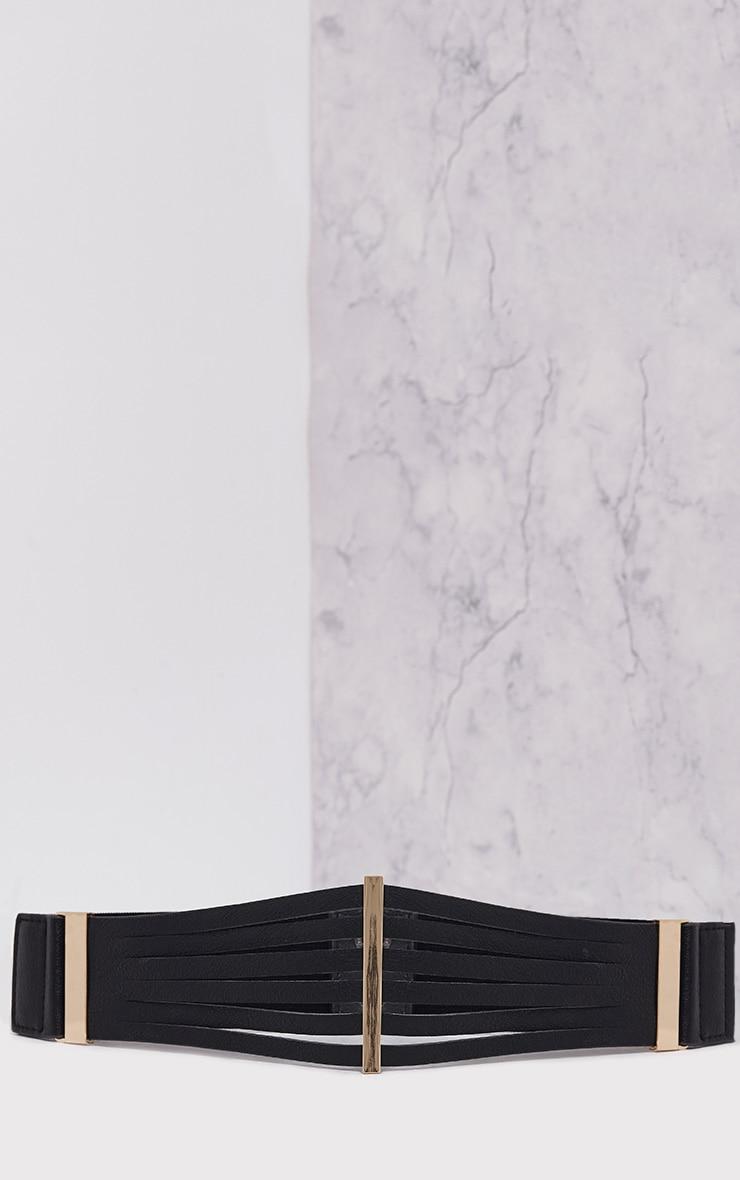 Ilena Black Multi Strap Detail Belt 3