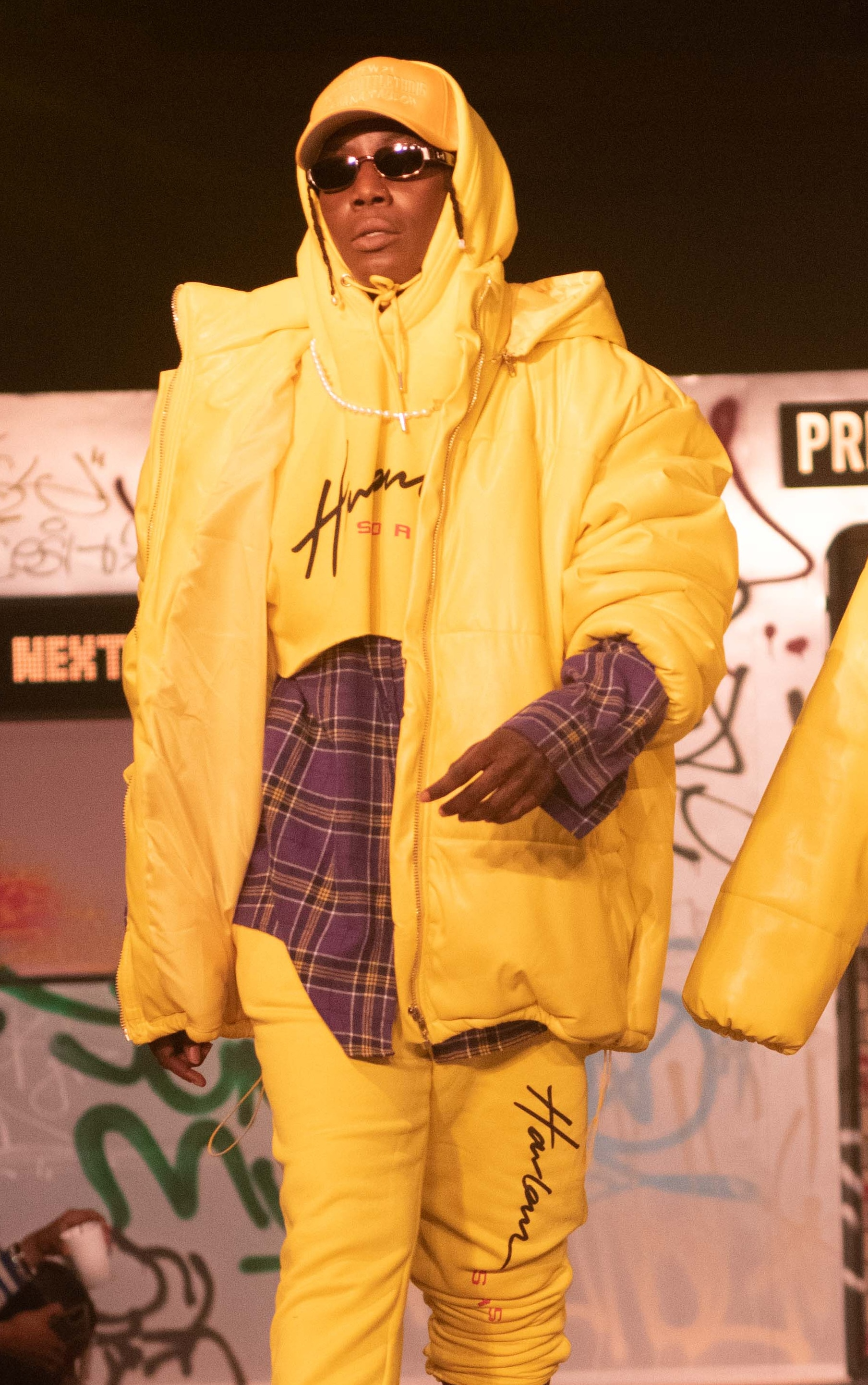 Plus Yellow Unisex PU Extreme Oversized Puffer Coat 1