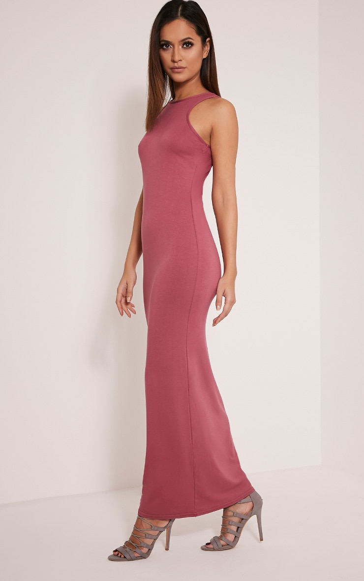 Basic Rose Racer Neck Maxi Dress 1