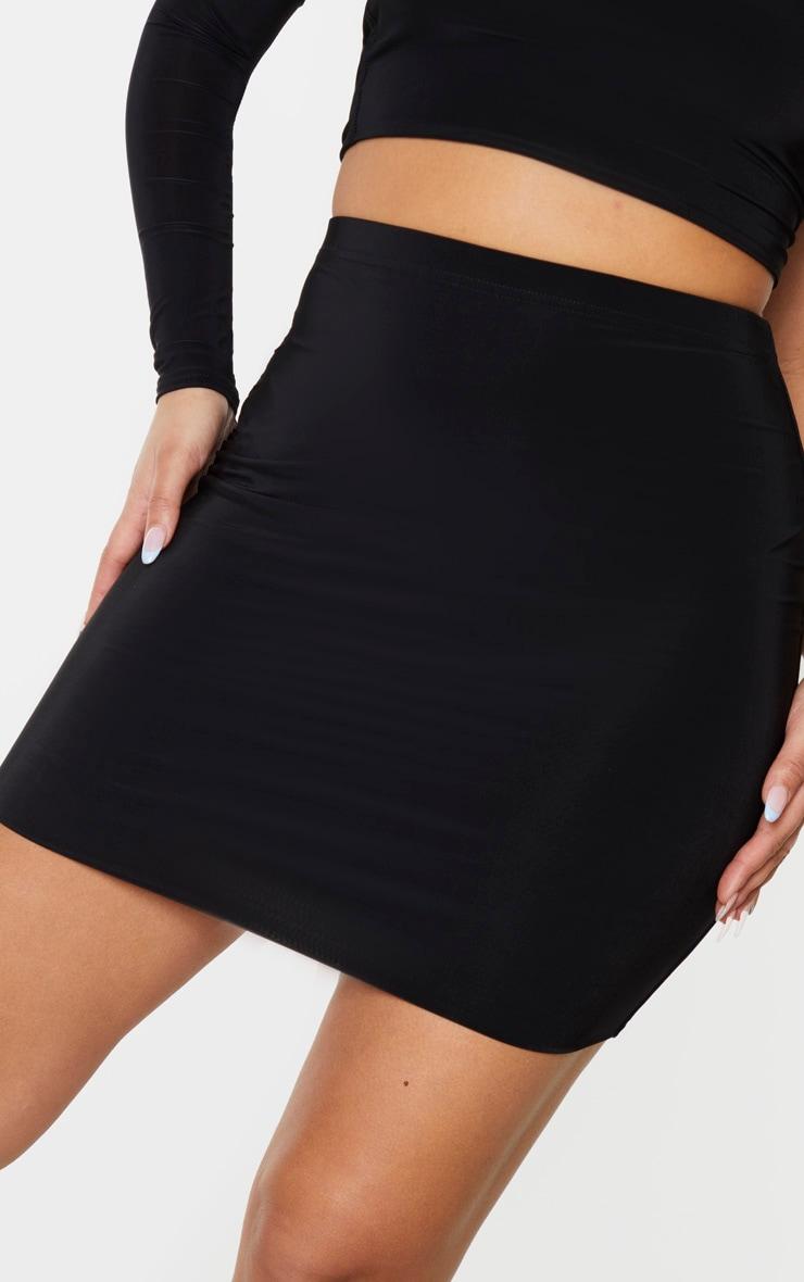 Black Slinky Mini Skirt 6