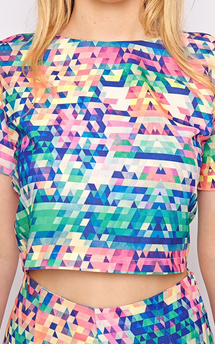 Lacey Multi Print Crop Top  4