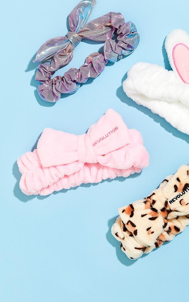 Revolution Skincare Pretty Pink Bow Headband 3