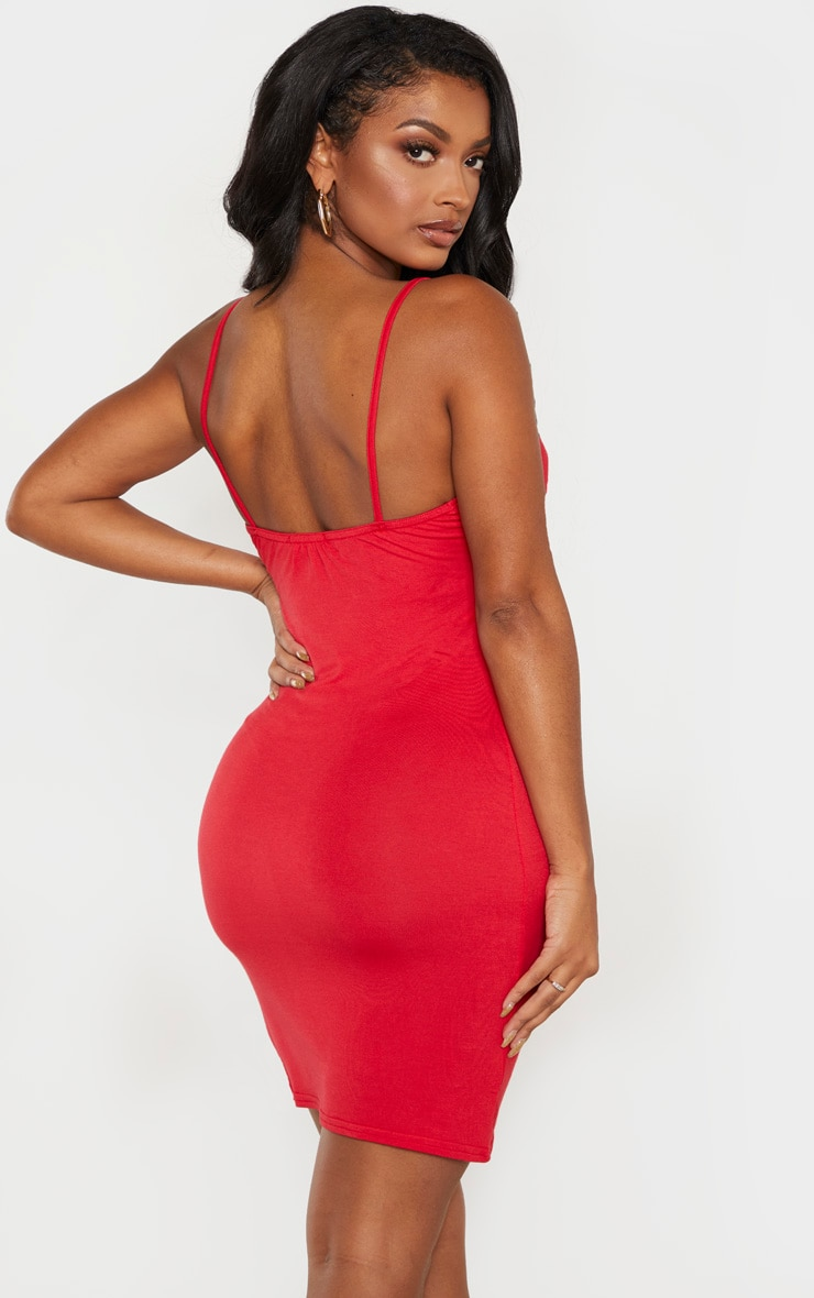 Shape Red Jersey Ruched Bodycon Dress  2