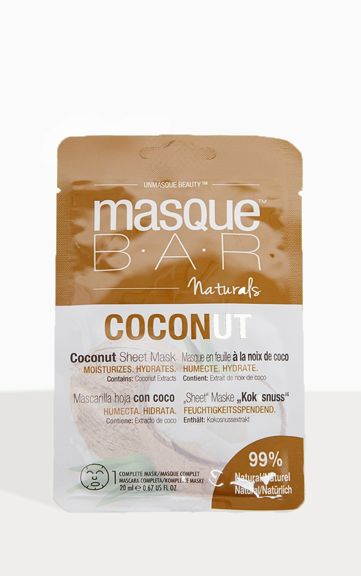 MasqueBAR Naturals Coconut Sheet Mask 2