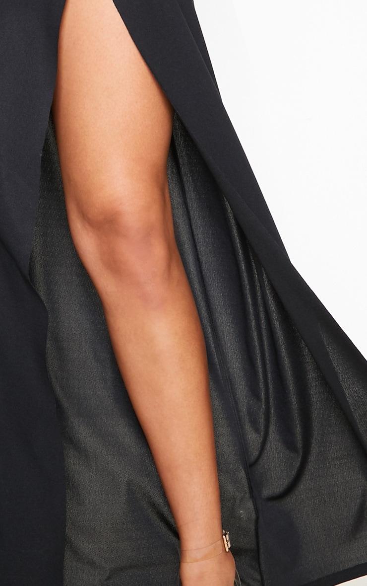Black High Waisted Split Detail Maxi Skirt 5
