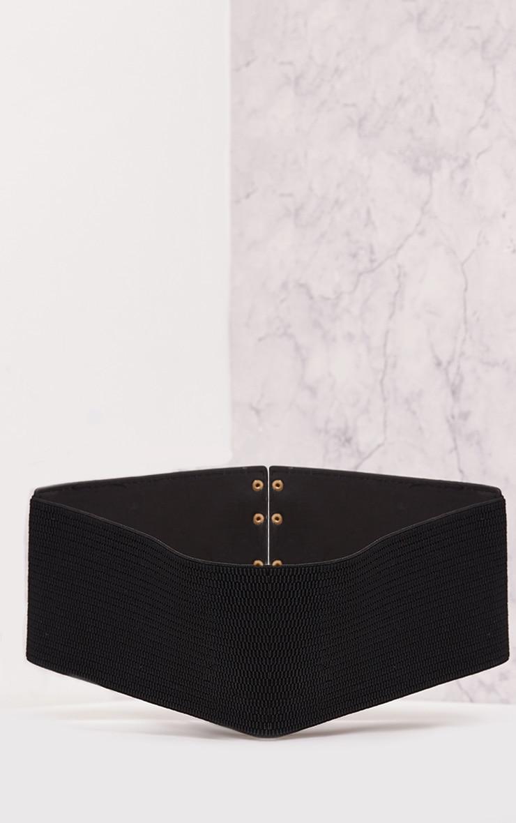 Ediee Black Corset Style Belt 5