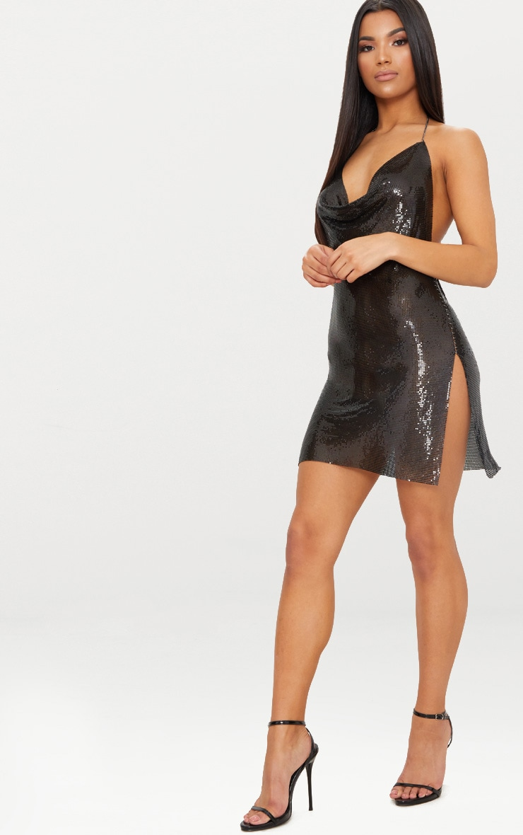 Black Chainmail Dress 4