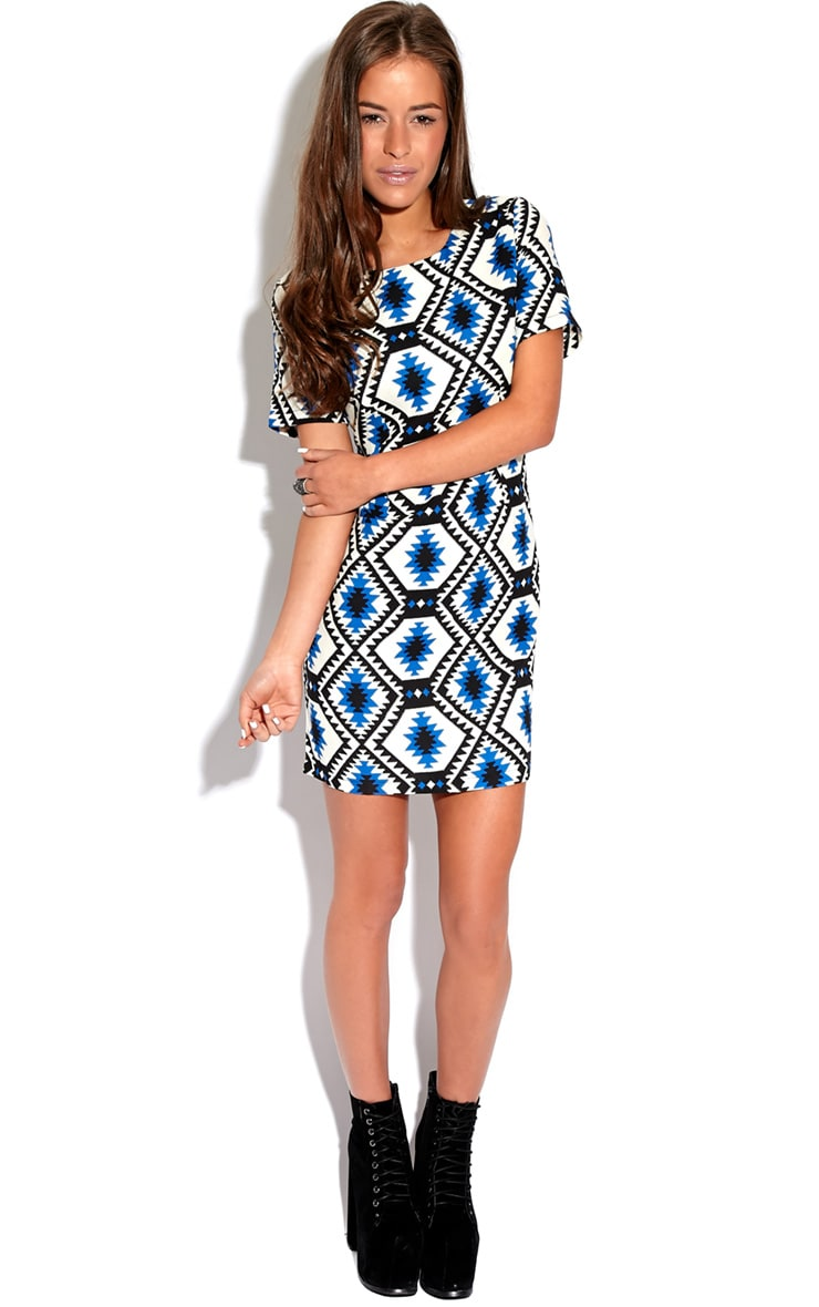 Millu Blue Aztec Print Dress-M 5