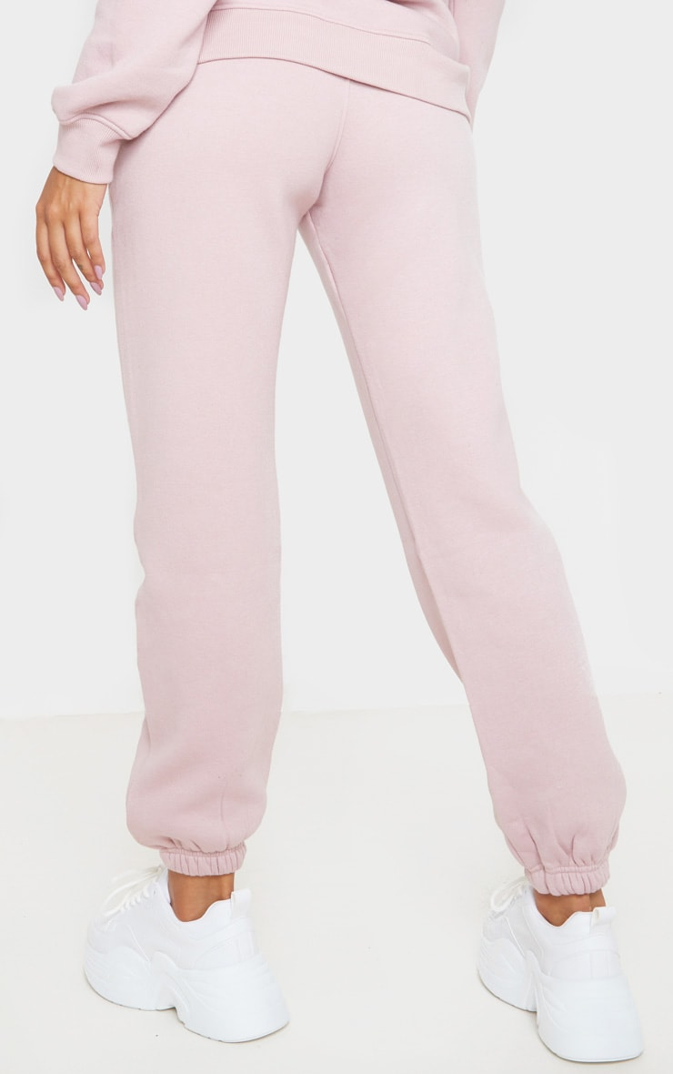 PRETTYLITTLETHING Pale Pink Slogan Joggers 4