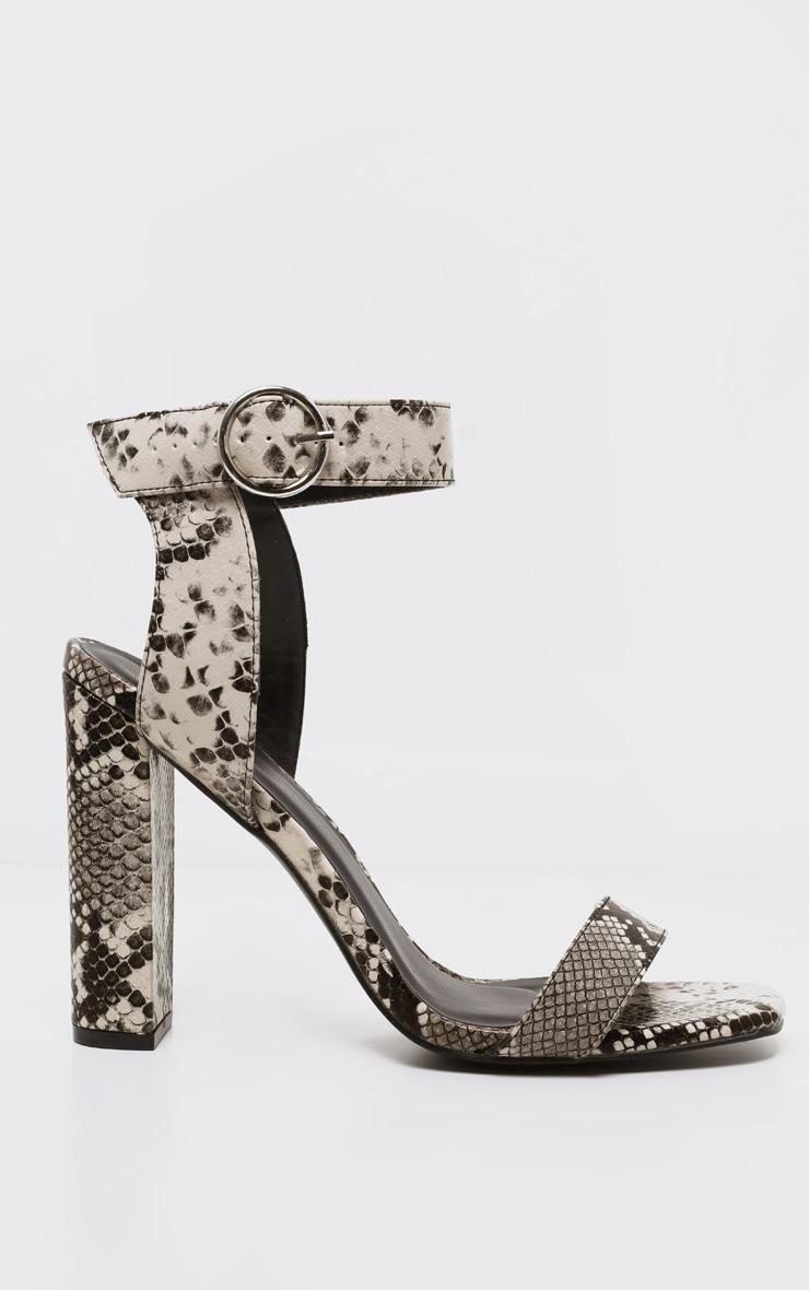 Snake Ring Buckle Block Heel Sandal 3