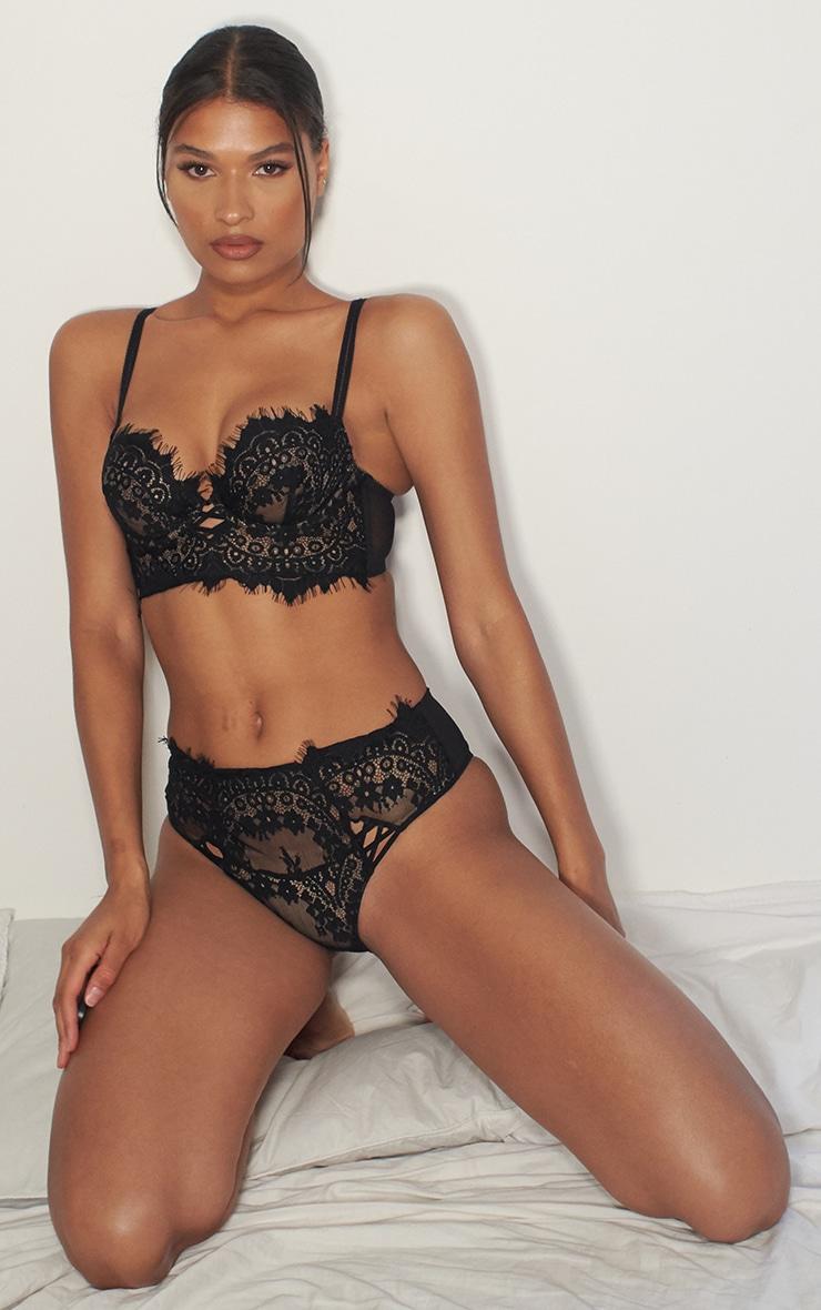 Black Ann Summer High Waist Lace Brazilian 3