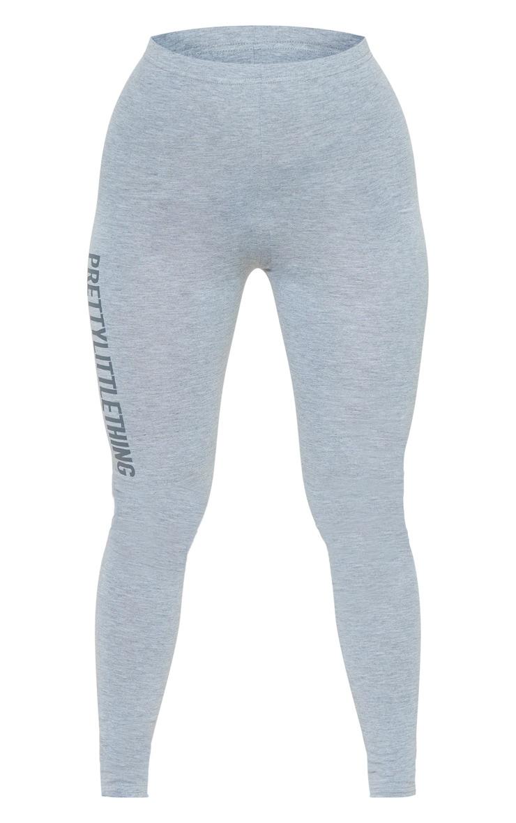 PRETTYLITTLETHING Grey Logo Leggings 5