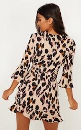 Leopard Print Wrap Tea Dress 2