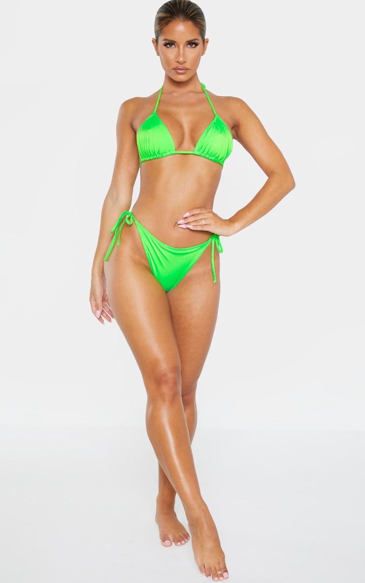 Lime Recycled Mix & Match Tie Side Bikini Bottom 5