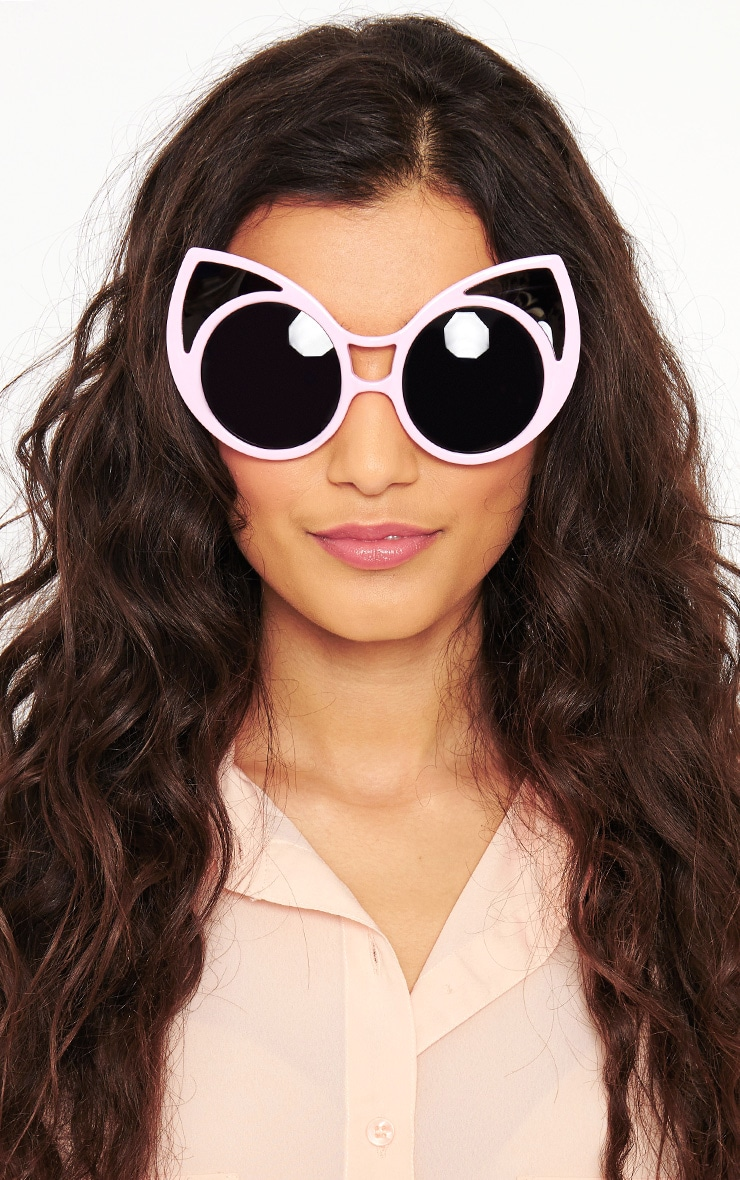 Mimi Pink Cat Ear Sunglasses 1