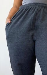 Plus Charcoal Casual Joggers 4