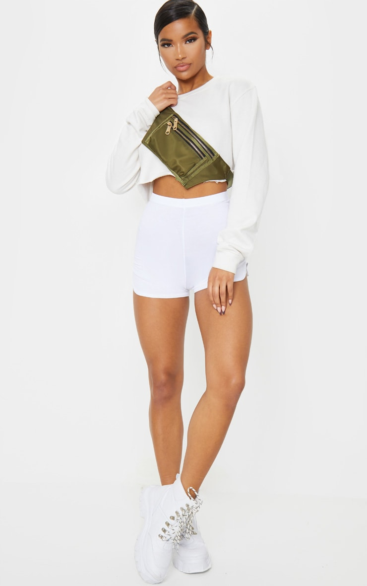 White Basic Runner Short  4