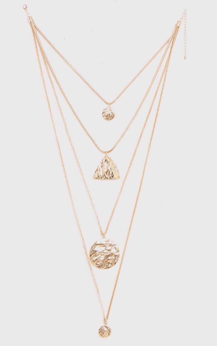Verity Gold Chunky Layered Necklace 2