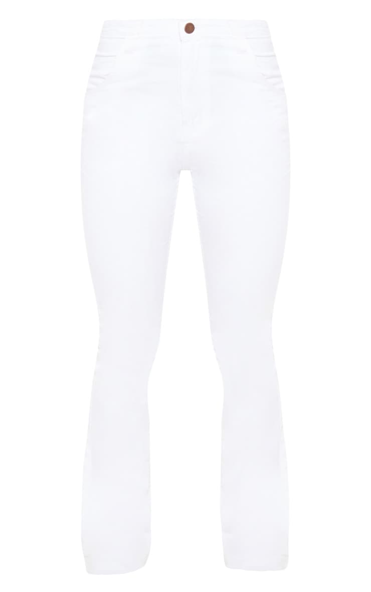 Flared White Jeans 3