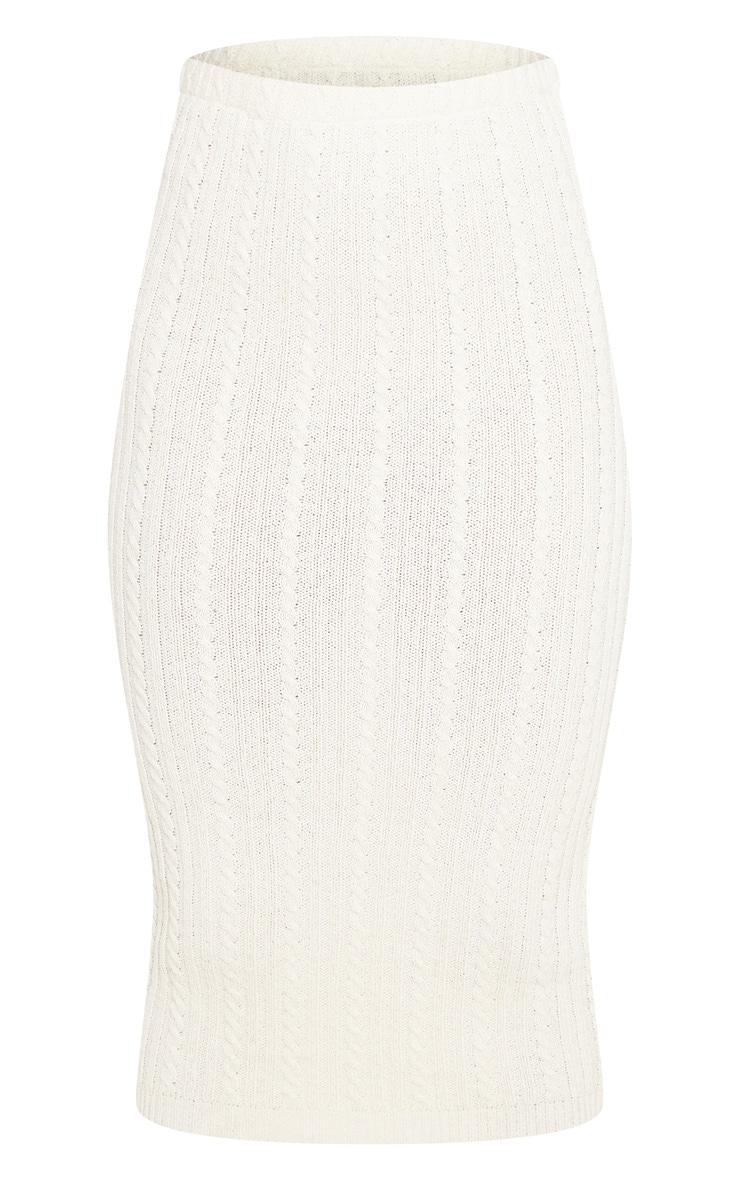 Petite Stone Knitted Midi Skirt 3