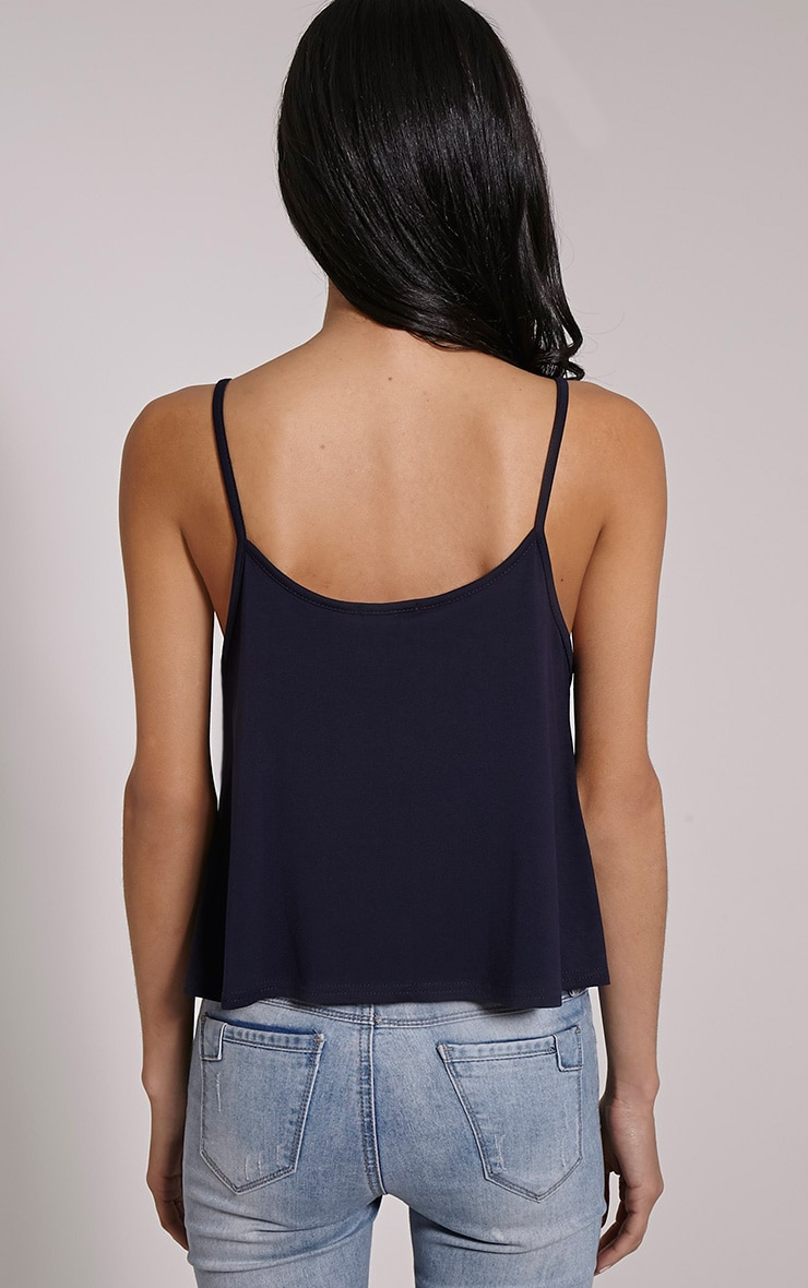 Basic Navy Jersey Swing Cami Top 2