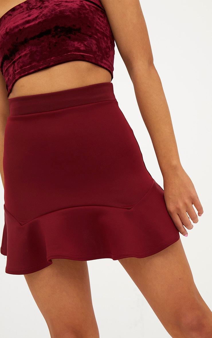 Petite Wine Flippy Hem Skirt 6