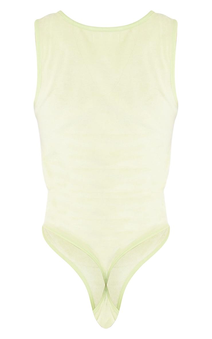 Tall Lime Velour Racer Bodysuit 6