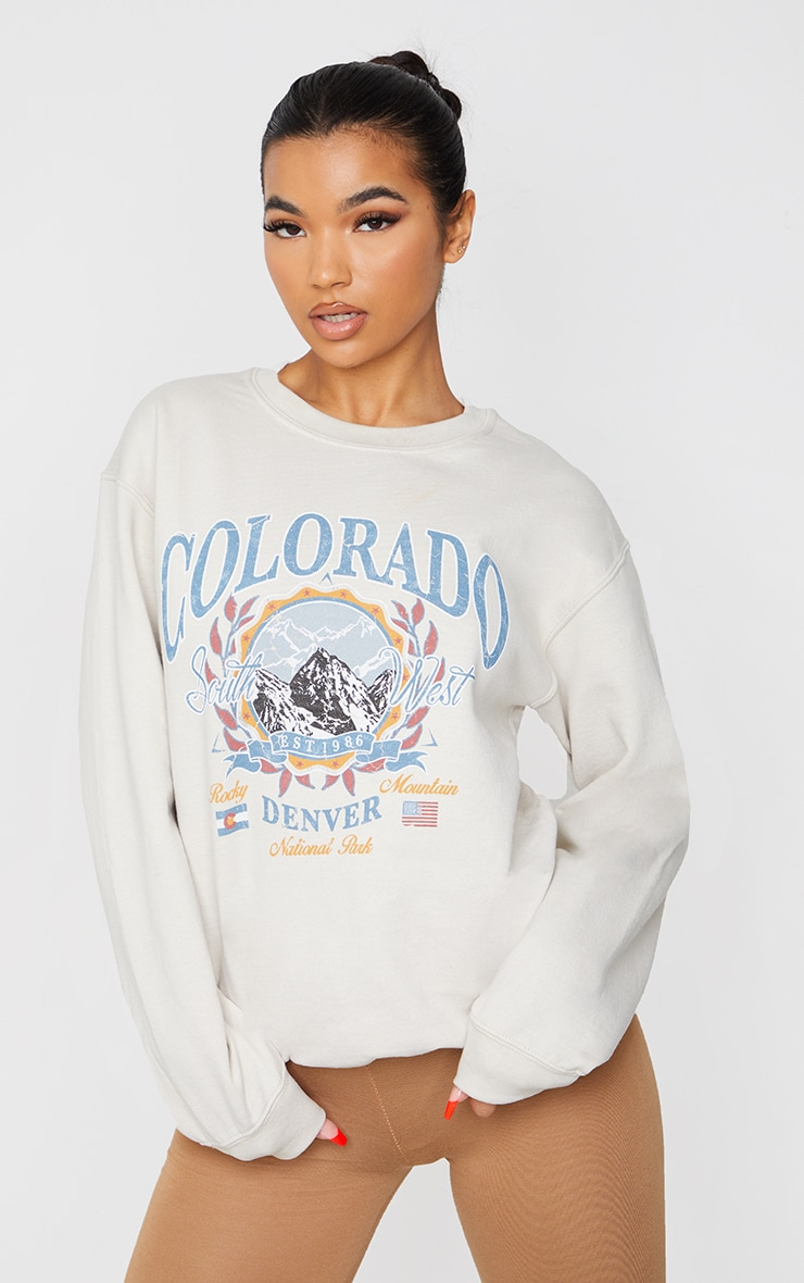 Fawn Colorado Slogan Sweater 1
