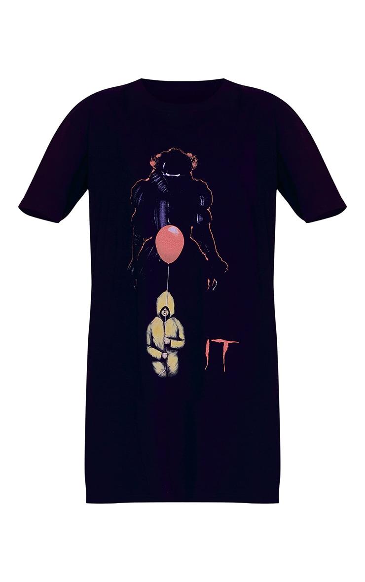 Black IT Print T Shirt Dress 5