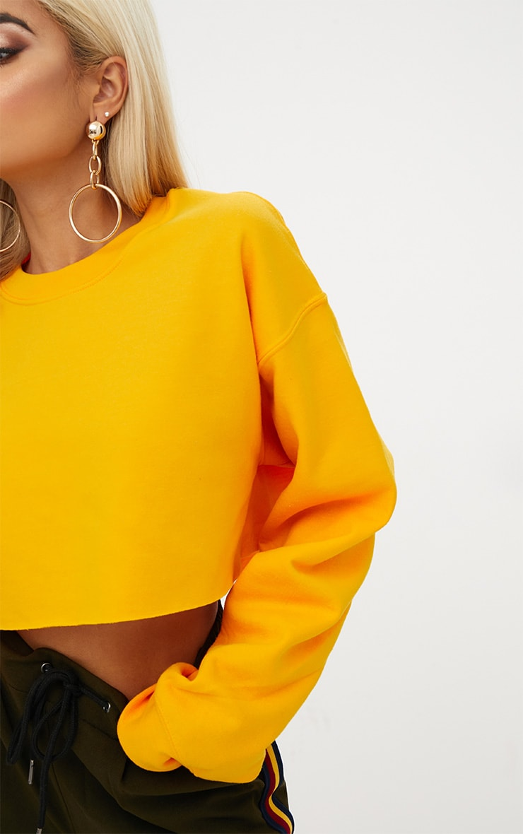 Yellow Ultimate Cropped Sweater 5