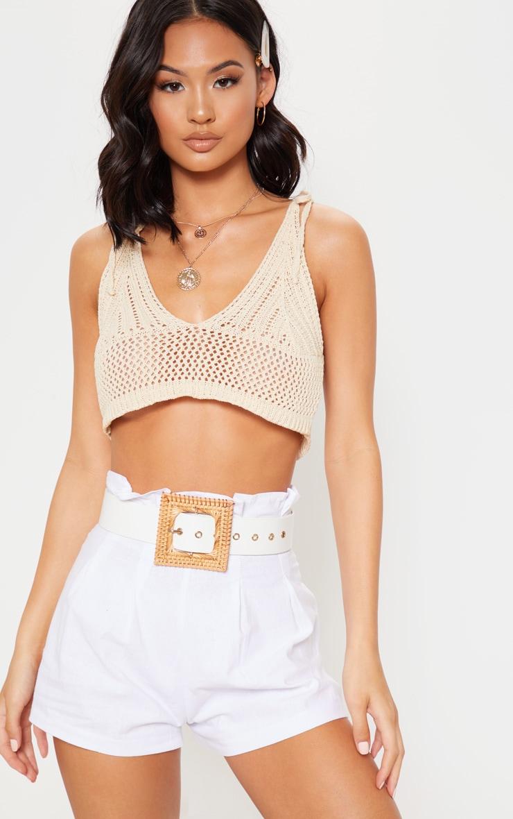 Stone Crochet Knit Bralet 5