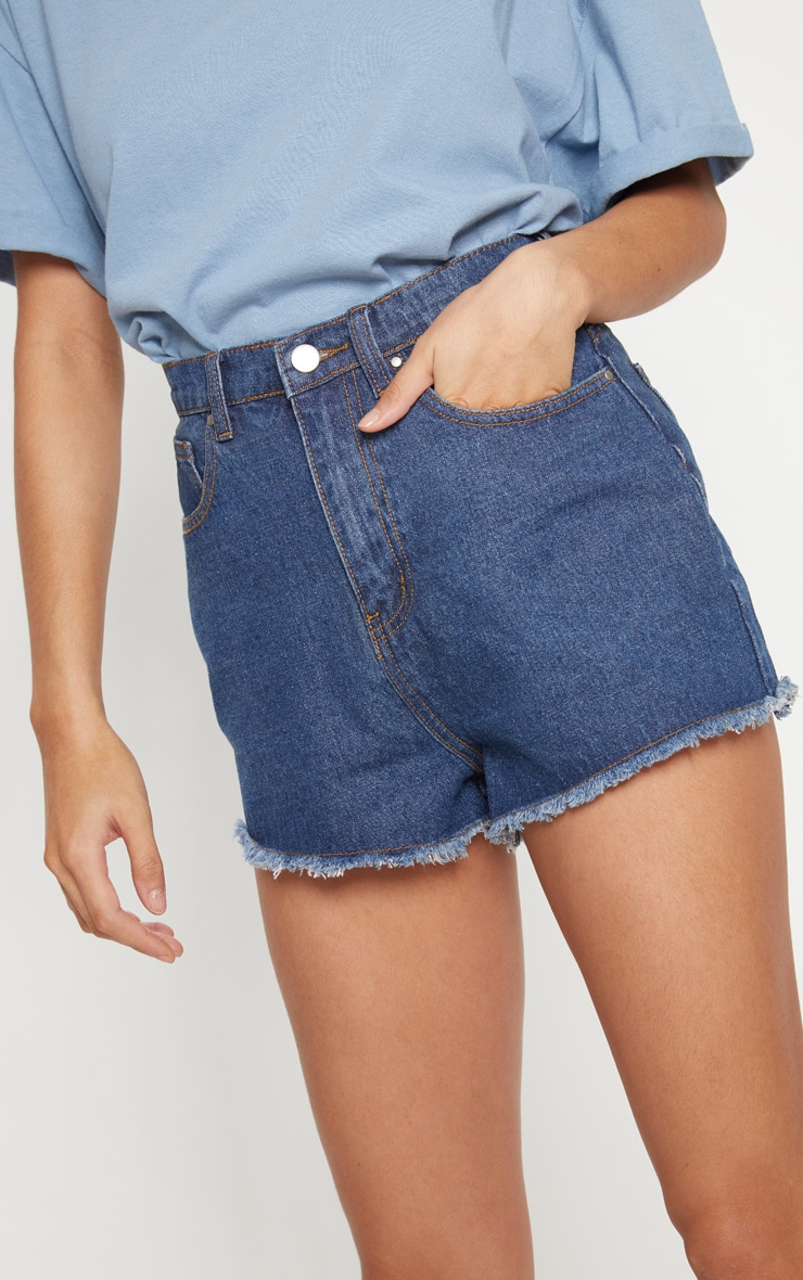 Bright Blue Shelby High Waisted Denim Short 7