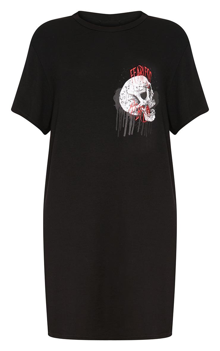 Fearless Rebellion Black T Shirt Dress  3