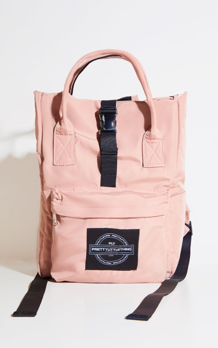 PRETTYLITTLETHING Pink Multi Pocket With Handle Backpack 1