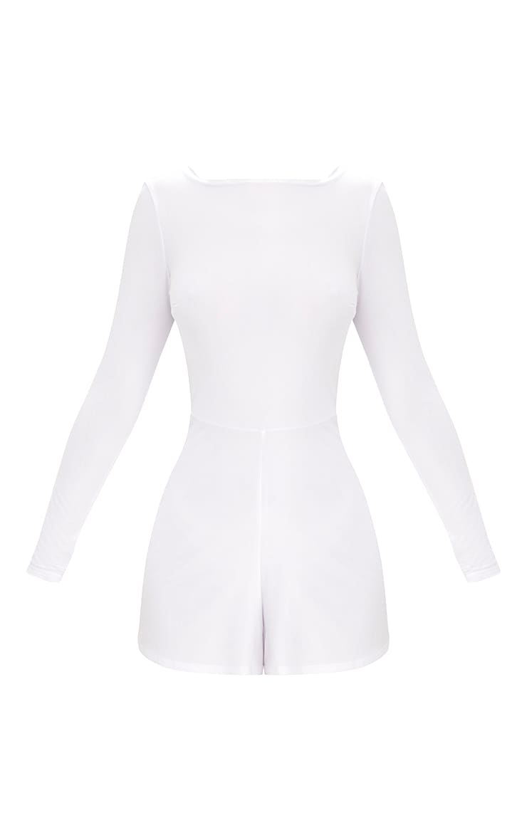 White Cowl Back Playsuit 3