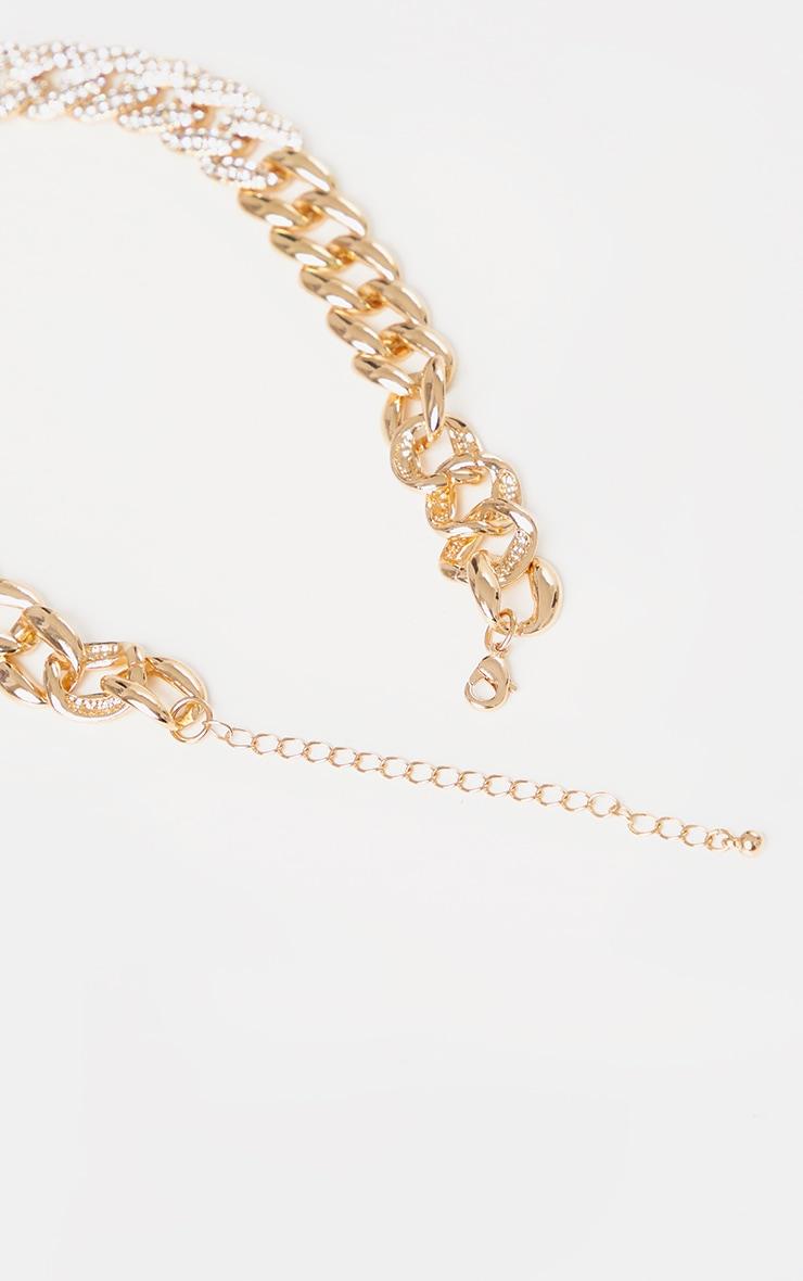 Gold Pave Chunky Necklace 3