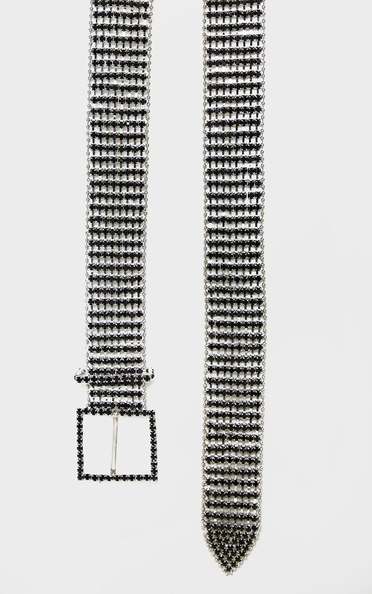 Black Diamante Chain Link Belt 3