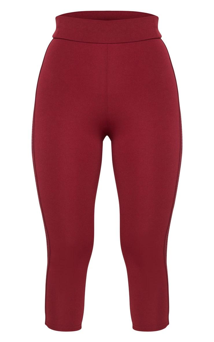 PRETTYLITTLETHING Berry Sport High Waist Cropped Gym Leggings 5